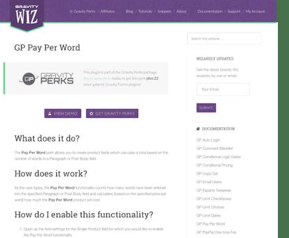Gravity Perks: Pay Per Word