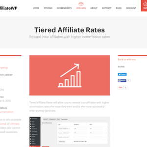 AffiliateWP: Tiered Rates