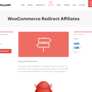 AffiliateWP: WooCommerce Redirect Affiliates