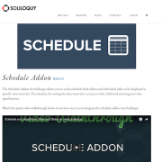 Soliloquy Add-On: Schedule