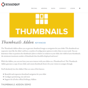 Soliloquy Add-On: Thumbnails