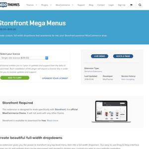 WooThemes – Storefront: Mega Menus