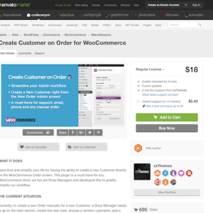 Codecanyon: Create Customer on Order for WooCommerce
