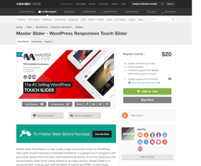 Codecanyon: Master Slider