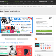 Codecanyon: Ninja Popups for WordPress