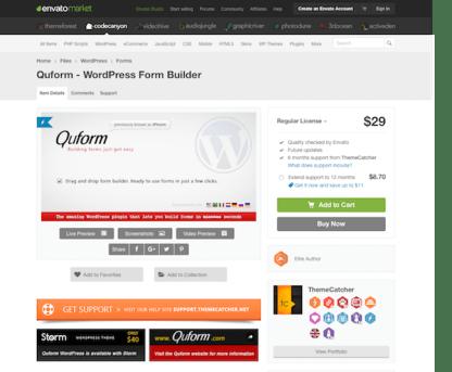 Codecanyon: Quform - WordPress Form Builder