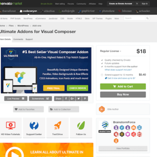 Codecanyon: Ultimate Addons for Visual Composer