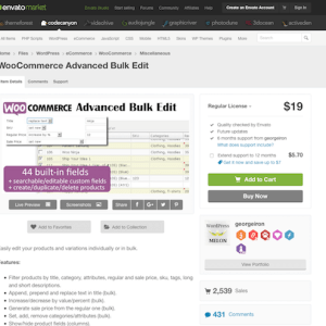 Codecanyon: WooCommerce Advanced Bulk Edit