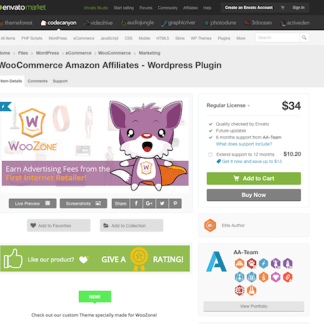 Codecanyon: WooCommerce Amazon Affiliates