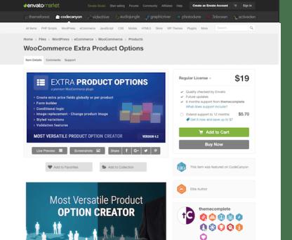 Codecanyon: WooCommerce Extra Product Options