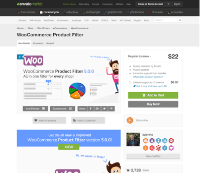 Codecanyon: WooCommerce Product Filter