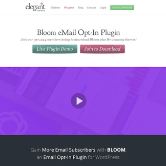 Elegant Themes: Bloom WordPress Plugin