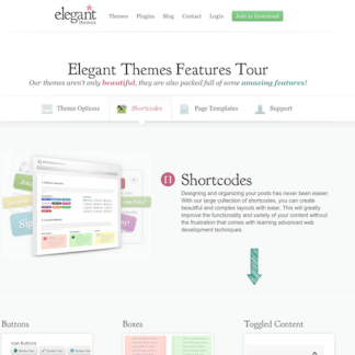 Elegant Themes: Elegant Shortcodes WordPress Plugin