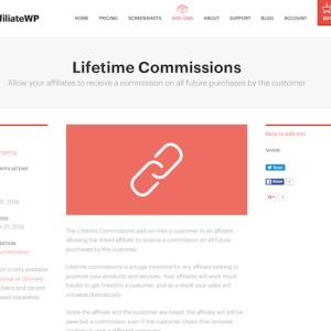 AffiliateWP: Lifetime Commissions