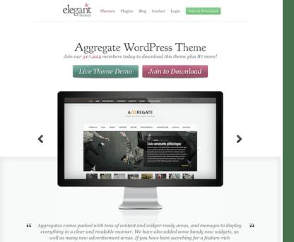 Elegant Themes: Aggregate WordPress Theme