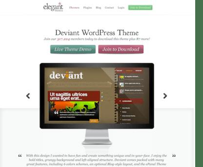 Elegant Themes: Deviant WordPress Theme