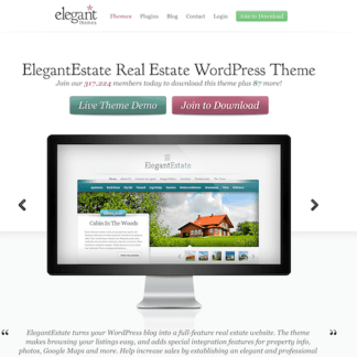 Elegant Themes: ElegantEstate WordPress Theme