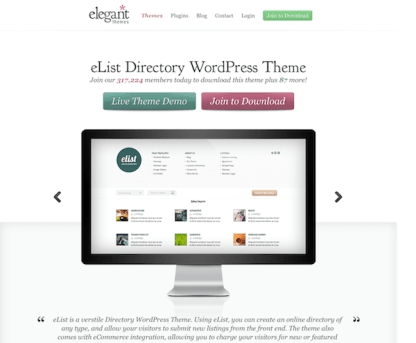 Elegant Themes: eList WordPress Theme