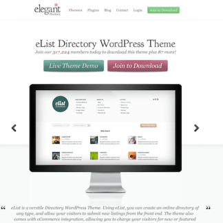 Elegant Themes: eList WordPress Theme