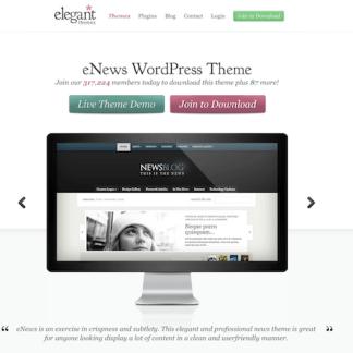 Elegant Themes: eNews WordPress Theme