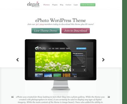 Elegant Themes: ePhoto WordPress Theme