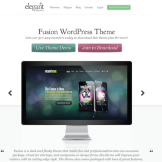 Elegant Themes: Fusion WordPress Theme