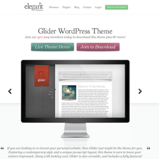 Elegant Themes: Glider WordPress Theme