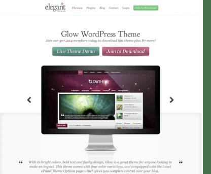 Elegant Themes: Glow WordPress Theme