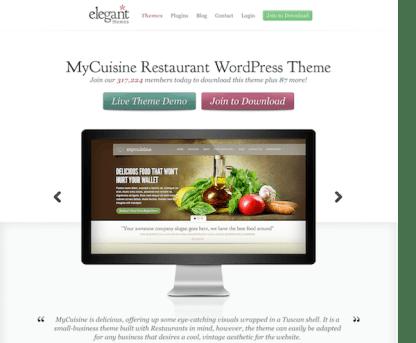 Elegant Themes: MyCuisine WordPress Theme