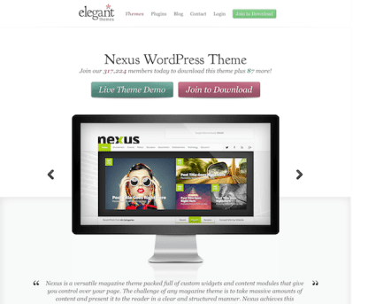 Elegant Themes: Nexus WordPress Theme