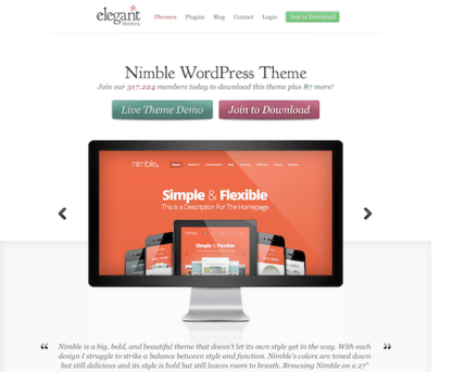 Elegant Themes: Nimble WordPress Theme