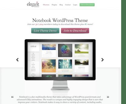 Elegant Themes: Notebook WordPress Theme
