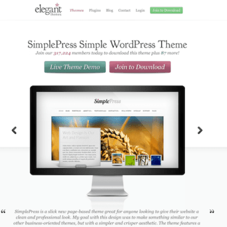 Elegant Themes: SimplePress WordPress Theme