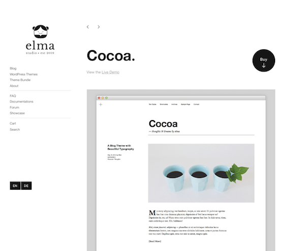 Elmastudio: Cocoa WordPress Theme