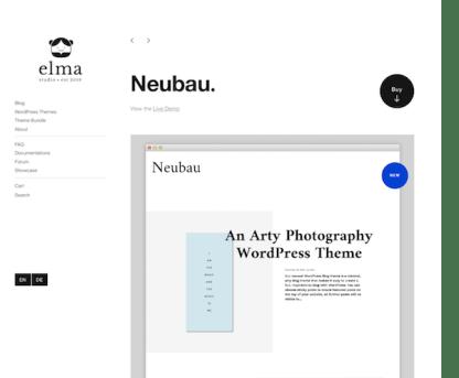 Elmastudio: Neubau WordPress Theme
