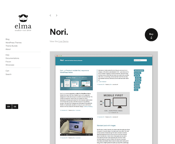 Elmastudio: Nori WordPress Theme