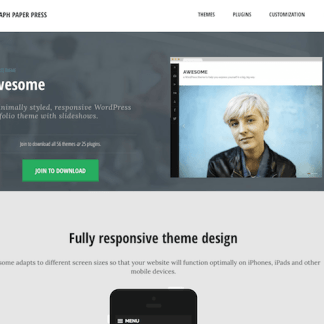 Graph Paper Press: Awesome WordPress Theme