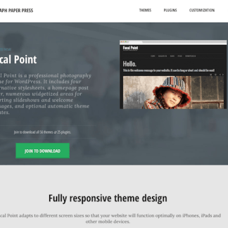 Graph Paper Press: Focal Point WordPress Theme