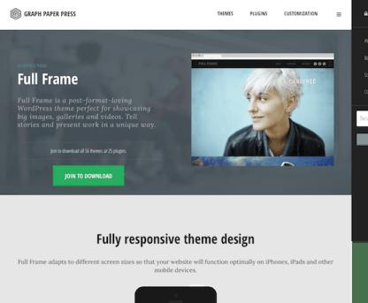 Graph Paper Press: Full Frame WordPress Theme