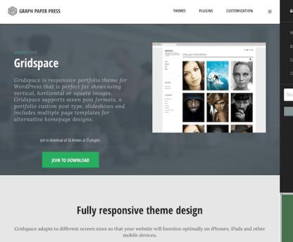 Graph Paper Press: Gridspace WordPress Theme
