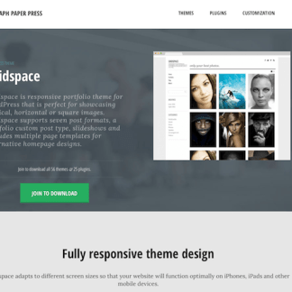 Graph Paper Press: Gridspace WordPress Theme