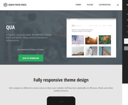 Graph Paper Press: Qua WordPress Theme