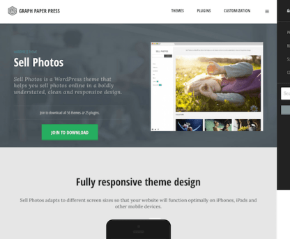 Graph Paper Press: Sell Photos WordPress Theme