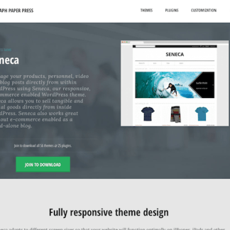 Graph Paper Press: Seneca WordPress Theme
