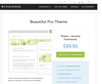 StudioPress: Beautiful Pro Theme