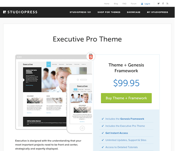 StudioPress: Executive Pro Theme