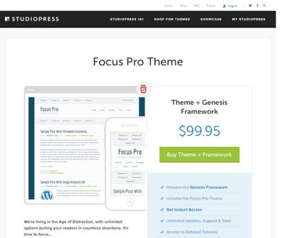 StudioPress: Focus Pro Theme