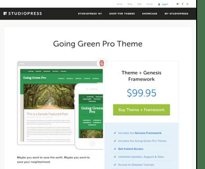 StudioPress: Going Green Pro Theme