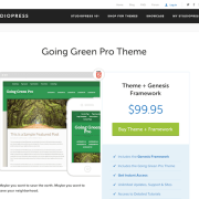 StudioPress: Going Green Pro Theme
