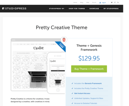 StudioPress: Pretty Creative Theme